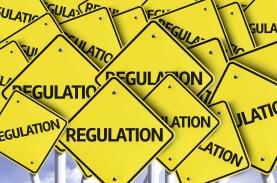 Regulation written on multiple road sign
